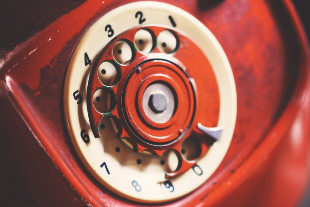 old broken rotary phone