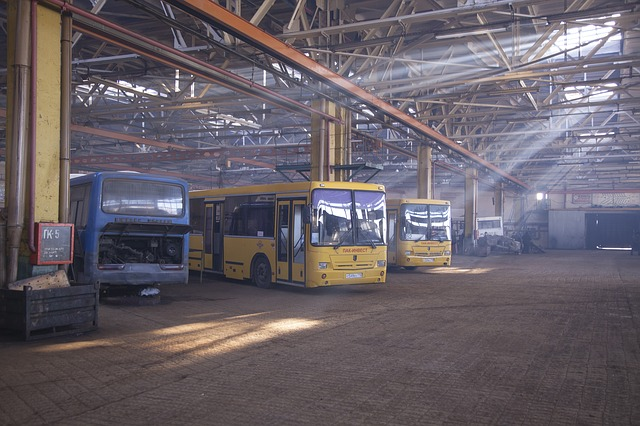 Bus repair shop